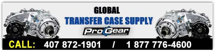 Global Transfer Case Supply drivs av ProGear och transmission. Ring idag 877-776-4600