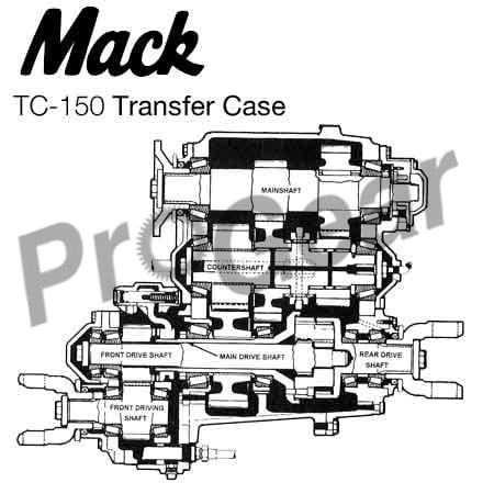 Rebuilt Mack Transfer Case
