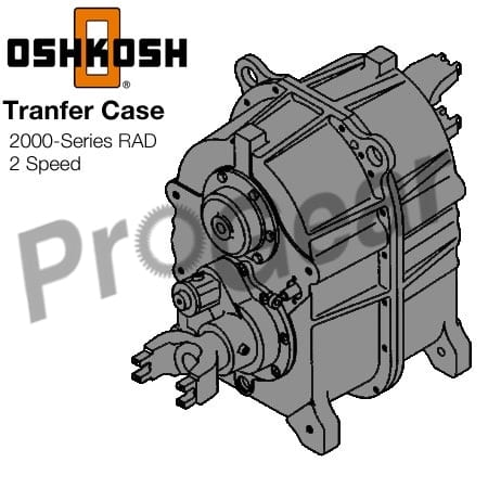 rebuilt Oshkosh transfer case